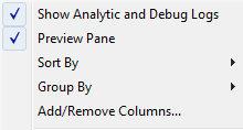 Windows Vista Show Analytic and Debug Logs