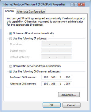 Use the following dns server - Join Domain