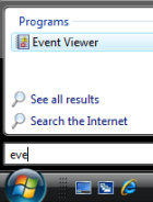 Launch Vista Event Viewer