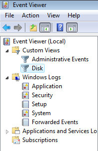 Windows Vista Event Viewer