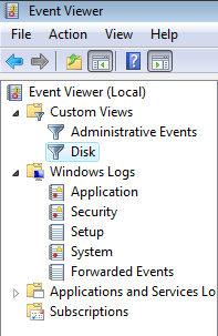 Windows Vista Event Viewer