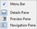 Vista Explorer Layout Options