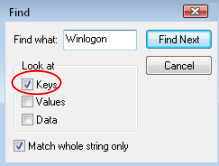 Find Winlogon Registry