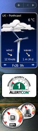 Windows Vista sidebar gadgets