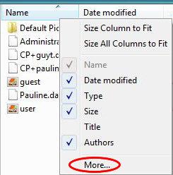 Apply to folders - Options