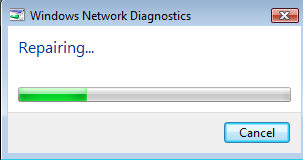 Windows Vista Network Diagnoistics - Repair