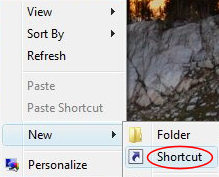 Create a new shortcut for ncpa.cpl
