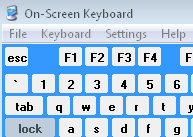 OSK - Vista on screen keyboard