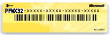 Vista Product Key Sticker