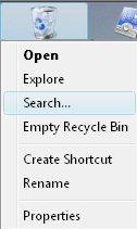 Re-program Recycle Bin Properties
