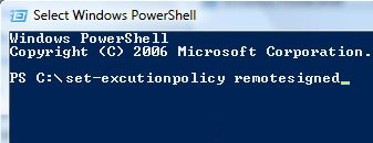 Windows PowerShell Vista