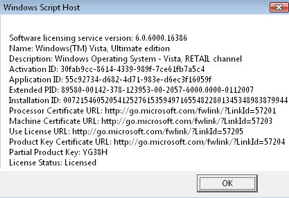 Microsoft Software Licence Manager slmgr.exe