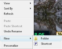 Configure a new Vista Toolbar