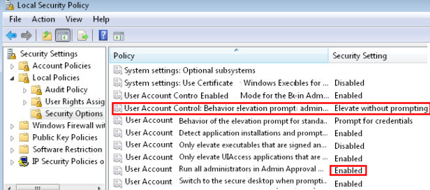 Elevate without prompting - Disable UAC