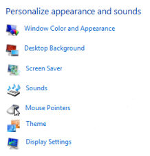 Vista Desktop - Personalize appearance and sounds