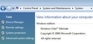 Windows Vista - New System Icon menus