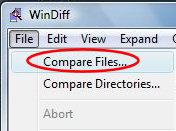 Windiff - Compare Registry Files