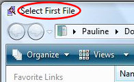 Windiff - Select First File