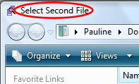 Windiff - Select Second File