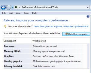 Vista Tip: Windows System Assessment Tool WinSat