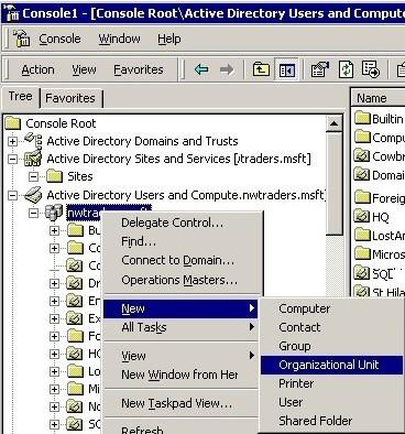 Windows Server 2003 OU