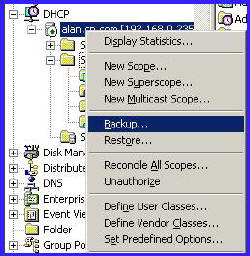 DHCP Backup, Restore, Reconcile