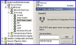 DHCP Relay Agent Configuraton Routing and Remote Access
