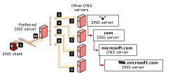 DNS Iterative query.  Root Hints
