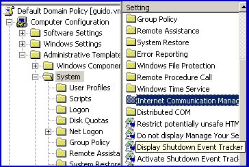 Shutdown Event Tracker Enable Group Policy
