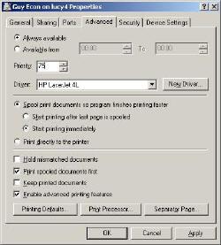 Printer Pools