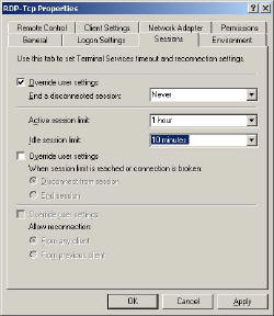 RDP Remote Desktop Protocol over TCP settings