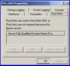 DNS Server Root Hints