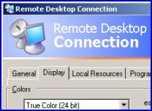 Terminal Services Remote Desktop Connection RDP True Color