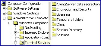 Terminal Services Group Policy Settings