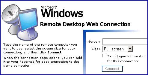 Install Remote Desktop ActiveX Control Terminal Services XP Experience