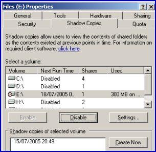 Volume Shadow Copy.  VSS