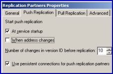 WINS replication PUSH PULL partners