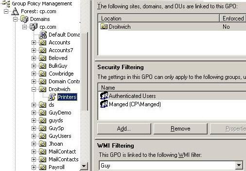 GPO WMI Filter Example