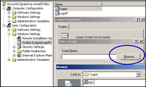 Assign logon script - Group Policy