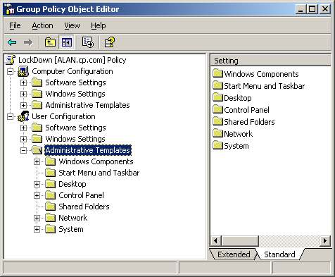 computer configuration administrative templates - group policy administrative templates microsoft policies