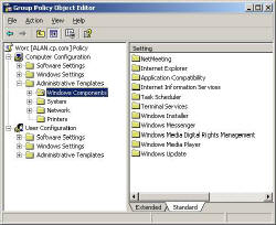 Group Policy Windows Components