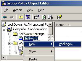 Group Policy - Assign Computer Software