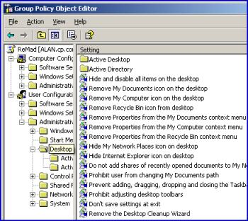 Desktop Group Policy