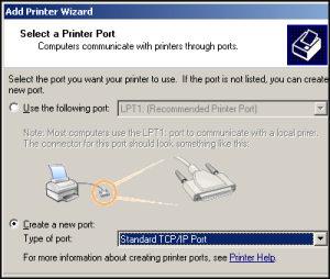 VBScript to create a TCP/IP printer