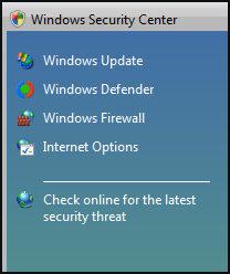 Windows Security Center (WSC)
