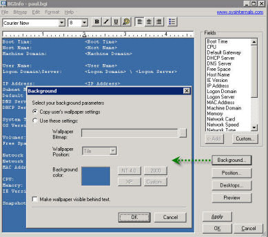 bginfo desktop