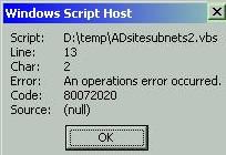 Code 80072020