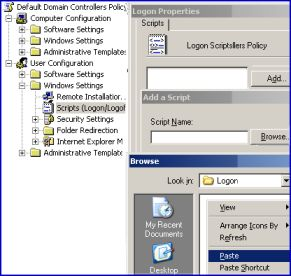 Assigning windows logon scripts via Active Directory Group Policy