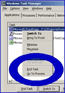 WMI Example VBScript Kill Process - Stop Terminate Process