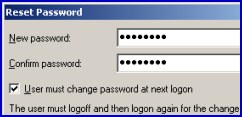 SetPassword vbscript change user password